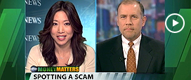 Pat Huddleston Tells ABC's Money Matters How to Spot a Scam